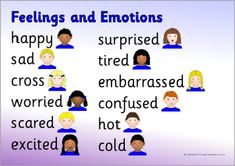 Feelings and emotions word mats (SB9345) - SparkleBox