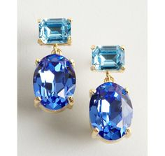 Earrings for the bridesmaids? W/A Studios blue and turquoise drop crystal earrings