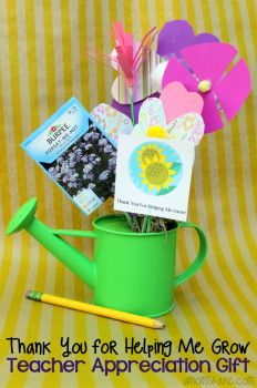 Thank you for helping me grow printable 25 teacher for Thank you crafts for teachers