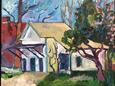 Excited to share this item from my #etsy shop: French Laundry with the St.Charles in Columbia The French Laundry, White Building, State Parks, Kendall, Etsy Shop, Canvas, Painting, Art, Tela