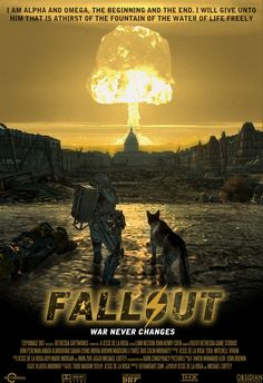 Fallout Movie Poster by on DeviantArt Fallout New Vegas, Fallout Movie, Fallout Facts, Fallout Posters, Fallout Fan Art, Fallout Game, Video Game Movies, Video Games, Magia Elemental