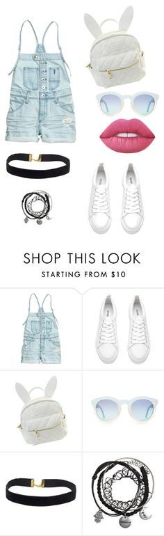 """Overall outfit"" by gaby-pineda ❤ liked on Polyvore featuring cutekawaii, Lime Crime, TrickyTrend and overalls"