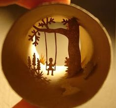 Beautiful miniature artworks by french artist Anastassia Elias, made in toilet paper rolls.
