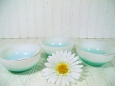 Vintage Fire King Cereal Bowls Set of 3 Retro by DivineOrders, $12.00
