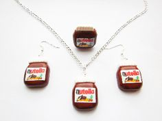 Rare handcrafted Nutella Set for Spread lovers.  http://www.foodjewellerydirect.co.uk/ourshop/prod_2434042-Nutella-Gift-Set.html