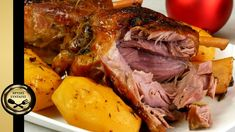 Greek Recipes, Pork Recipes, Christmas Cooking, Party Desserts, Pork Roast, Turkey, Food And Drink, Potatoes, Favorite Recipes