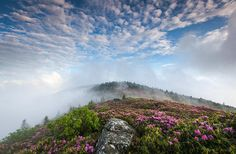 """Take A Hike: ROAN HIGHLAN a 48-mile stretch of the Appalachian Trail between the Nolichucky River and U.S. Highway 19E. This area is known for its breathtaking views and rhododendrons, and contains the largest expanse of """"bales"""" in the Appalachian range."""