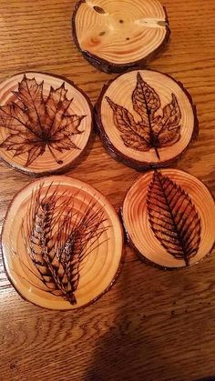 Wood burned coasters I hand made from cheapo rounds Wood Crafts Burned cheapo Coasters Hand Rounds Wood Wood Slice Crafts, Wood Burning Crafts, Wood Burning Patterns, Wood Burning Art, Wooden Crafts, Wood Burning Projects, Easy Woodworking Projects, Diy Craft Projects, Wood Projects