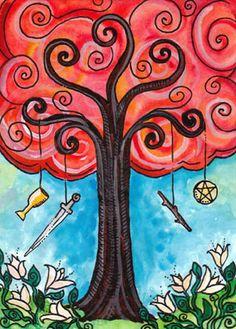 Bài dịch Lá I. The Magician - Tarot of Trees bài tarot