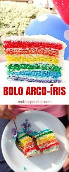 Bolo Arco-Íris | Malas e Panelas
