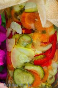 Kulinarna Ja: Sałatka z ogórków na zimę Ratatouille, Fresh Rolls, Treats, Canning, Vegetables, Healthy, Ethnic Recipes, Alligators, Sweet Like Candy