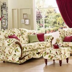Chintz Fabric, Wingback Chair, Family Room, Accent Chairs, Arts And Crafts, Victorian, Couch, Bedroom Yellow, Inspiration