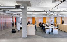 Steven Christensen Architecture has developed the new headquarters offices of software company Venafi located in Salt Lake City, Utah. When software City Office, Open Office, Office Ceiling, Office Walls, Visual Merchandising, Office Wall Design, Industrial Ceiling Lights, Ceiling Lighting, Innovation Centre