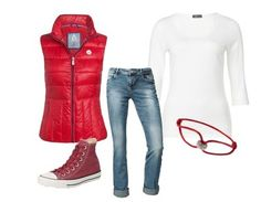 Casual outfit Red