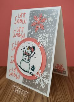 Stampin' Up! Snowman Season stamp set, Stitched Shapes dies, Frosted Frames dies, and Mercury Glass Designer Acetate. Stamped Christmas Cards, Homemade Christmas Cards, Stampin Up Christmas, Christmas Cards To Make, Xmas Cards, Homemade Cards, Holiday Cards, Stampinup Christmas Cards, Christmas Paper