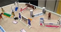 Model Horse Jumps - Mighty Minis - with Real Jump Cups - Handcrafted - Made in the U.S.A.- Collect and build courses for your breyer and other model horses