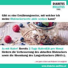 Hafer verbessert die Blutzuckerwerte und wirkt diabetischen Folgeerkrankungen entgegen. Das Wissen  ist nicht neu, denn die Heilkraft des Hafers ist seit Jahrtausenden bekannt.  Für frischen Wind sorgte eine 2007 publizierte Studie der medizinischen Fakultät Heidelberg, die aufzeigte, dass eine zweitägige Haferdiät pro Monat eine Halbierung der Insulindosis ermöglicht, die Glukosewerte verbessert und den HbA1c-Wert absenkt. Diese positiven Effekte sind bis zu 4 Wochen nachweisbar! Diabetes Mellitus, Monat, Heidelberg, Knowledge