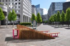 """Building Of The Day: Nifty Pop-Up """"Street Furniture"""" Perfect For Picnics - Architizer"""