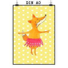 Poster DIN A0 Fuchs Ballerina aus Papier 160 Gramm  weiß - Das Original von Mr. & Mrs. Panda.  Jedes wunderschöne Motiv auf unseren Postern aus dem Hause Mr. & Mrs. Panda wird mit viel Liebe von Mrs. Panda handgezeichnet und entworfen.  Unsere Poster werden mit sehr hochwertigen Tinten gedruckt und sind 40 Jahre UV-Lichtbeständig und auch für Kinderzimmer absolut unbedenklich. Dein Poster wird sicher verpackt per Post geliefert.    Über unser Motiv Fuchs Ballerina  Die Fox-Edition ist eine…