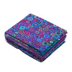 Kaffe Fassett Peacock 2 Fat Quarter pack 10 pce image Textile Artists, Fat Quarters, Peacock, Sewing, Fabric, Prints, Image, Color, Style