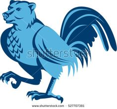 Illustration of a half bear half chicken hybrid marching looking to the side set on isolated white background done in retro style.  #hybrid #retro #illustration