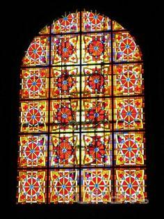 Iglesia de Sta María de Palacio, Vidriera Norte II #stainedglass