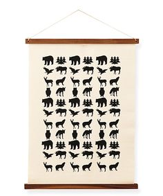 Look what I found on #zulily! Animals Hand-Printed Wall Art by Hanna Andersson #zulilyfinds