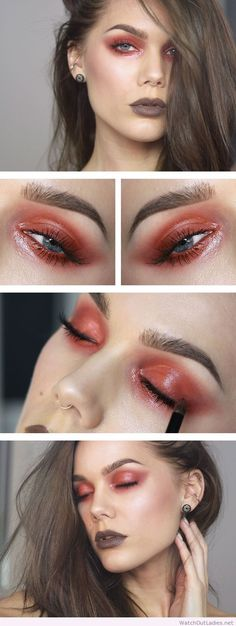 Linda Hallberg red eye makeup