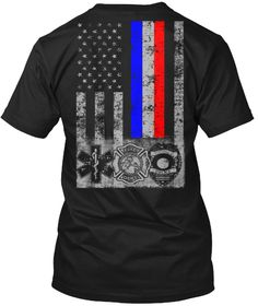 First Responders  Black T-Shirt Back