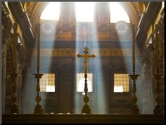 Crosses on Altar in St Peter's Basilica