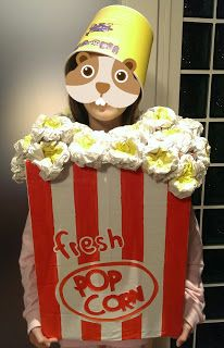 Il mio nido creativo: COSTUME POPCORN RICICLOSO.... Pop Corn Costume, Popcorn, Ronald Mcdonald, Costumes, Character, Art, Party, Art Background, Dress Up Clothes