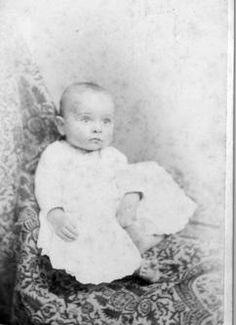 Harry S. Truman as a baby, 1884.