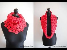 ▶ how to crochet flower cowl scarf for beginners free pattern tutorial by marifu6a - YouTube