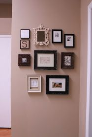 Hallway Picture Gallery Wall!! Mix of contemporary, vintage and rustic.