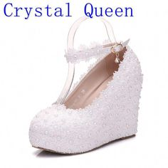 2018 Women High heels Prom Wedding Whoes Lady Crystal Platforms ... a7d94d958e62