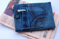 Denim Mini IPAD  Cover, Recycled Tablet Case