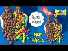 TARTA ANTI-GRAVEDAD * ILUSIÓN OPTICA con Maltesers y M&M's - YouTube