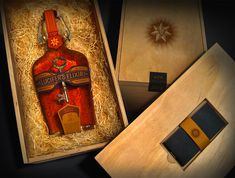 Lucifer's Elixir is a piece of student design work of a bourbon whiskey. There is something that just works when you combine wood, straw and whiskey.