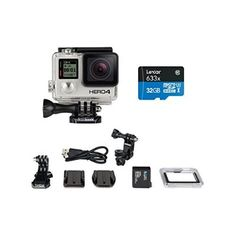 GoPro HERO4 BLACK Moto Bundle with Memory Card