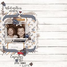 What Matters Most by Designs by Anita in the February 2016 Scrap Pack at Scrap Stacks; Font: 1942 Report