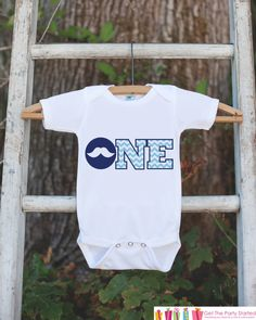 Mustache Bodysuit for First Birthday Party- ONE Shirt For Boy's 1st Birthday Party - Little Man Mustache Bash Onepiece Birthday Outfit by getthepartystarted on Etsy https://www.etsy.com/listing/244635481/mustache-bodysuit-for-first-birthday