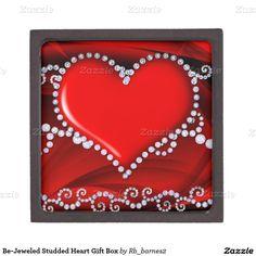 Be-Jeweled Studded Heart Gift Box Premium Jewelry Box