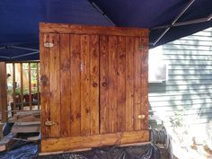 Pallet wood cabinet.