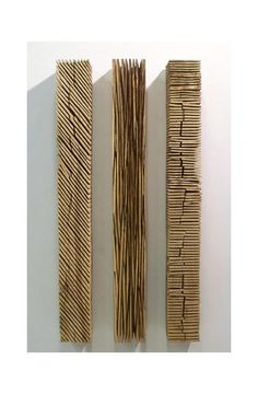 David Nash, Three Wall Colums, 2008