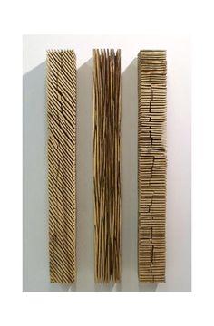 David Nash, Three Wall Colums, 2008