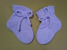 machine knit seamless baby bootie
