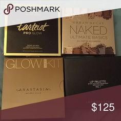 SALE today only Tartiest pro glow Naked ultimate basics Glow kit sun dipped Abh lip palette  Brand new 100 % authentic!! All pictured included  no switching out if you'd like to buy separately You can buy for what I have it listed for I can do ???aypal Invoice for $110 shipped  If you need pictures of the inside they are listed in separate posts  In my closet. Anastasia Beverly Hills Makeup