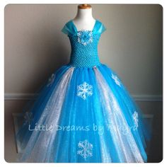 Elsa inspired glitter tutu dress and FREE hairpiece size nb to