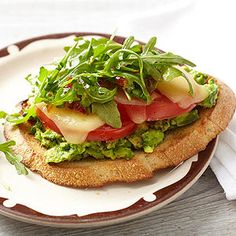 Avocado Melts with Arugula - I substituted with spinach, goat cheese, and mango chutney. It was amazing and extremely easy! Perfect lunch or even breakfast.