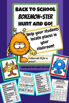 Back to School Bokemon-Sters Hunt and Go! by Robin Wilson 1st Grade Love | Teachers Pay Teachers